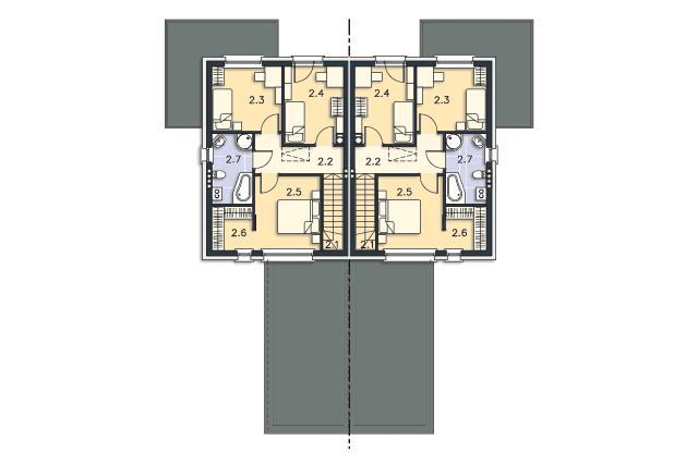 Zobacz powiększenie rzutu kondygnacji Piętro - projekt Norwich