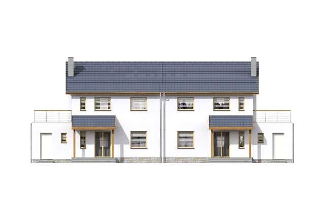 Zobacz powiększenie elewacji ogrodowej - projekt Glasgow II