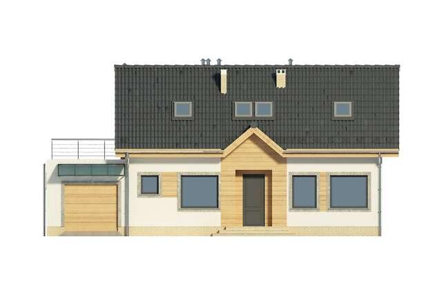Zobacz powiększenie elewacji frontowej - projekt Okayama