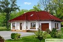 Projekty domów jednorodzinnych - Zobacz projekt - Gustowny w.II