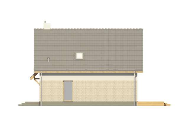 Zobacz powiększenie elewacji bocznej prawej - projekt Altea
