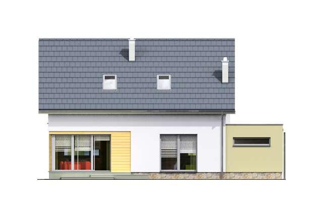 Zobacz powiększenie elewacji ogrodowej - projekt Fulton II