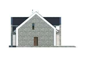 Elewacja boczna prawa - projekt Budynek agroturystyczny Brzoza 2