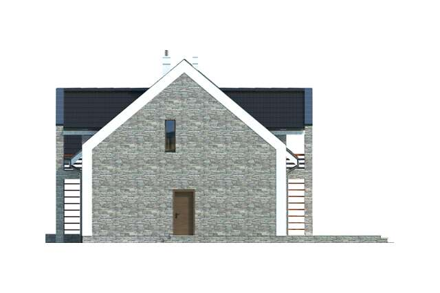 Zobacz powiększenie elewacji bocznej prawej - projekt Budynek agroturystyczny Brzoza 2