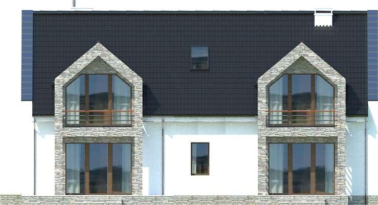 Elewacja ogrodowa - projekt Budynek agroturystyczny Brzoza 2