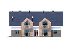 Elewacja frontowa - projekt Budynek agroturystyczny Dąb 3