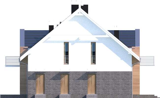 Elewacja boczna lewa - projekt Budynek agroturystyczny Dąb 3