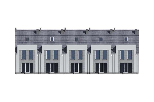 Zobacz powiększenie elewacji ogrodowej - projekt Miltown II