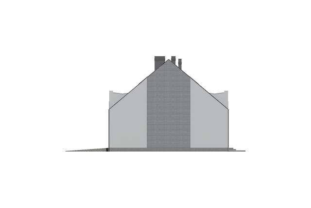 Zobacz powiększenie elewacji bocznej prawej - projekt Miltown II