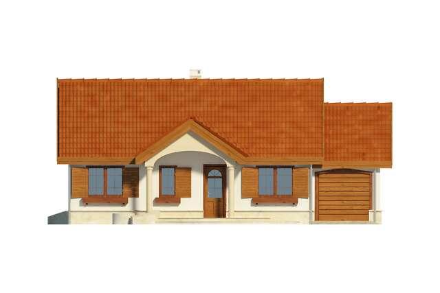 Zobacz powiększenie elewacji frontowej - projekt Sofia IV w.drewniana